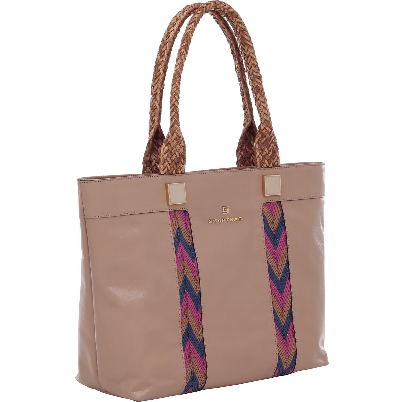 ac9246235 BOLSA TIRACOLO COURO BEGE TRESSE TRIBAL COLORS - Smartbag