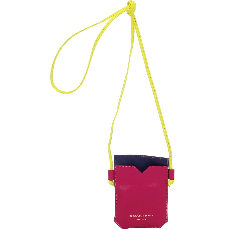 5c828fd0fb MINI BOLSA TRANSVERSAL COURO PINK MARINHO AMARELO - Smartbag