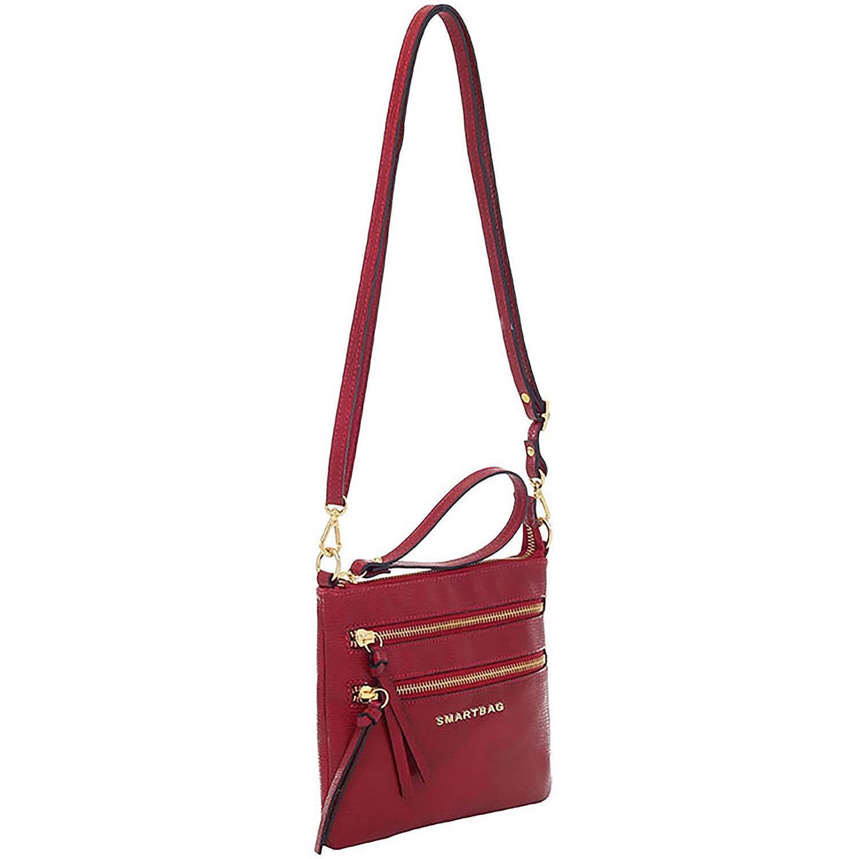 eb7f31aff Bolsa Transversal Couro Vermelho - Smartbag