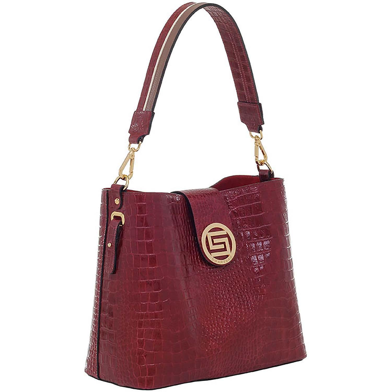 cb843f72a Comprar Bolsa Tiracolo Couro Croco Bordô - Smartbag