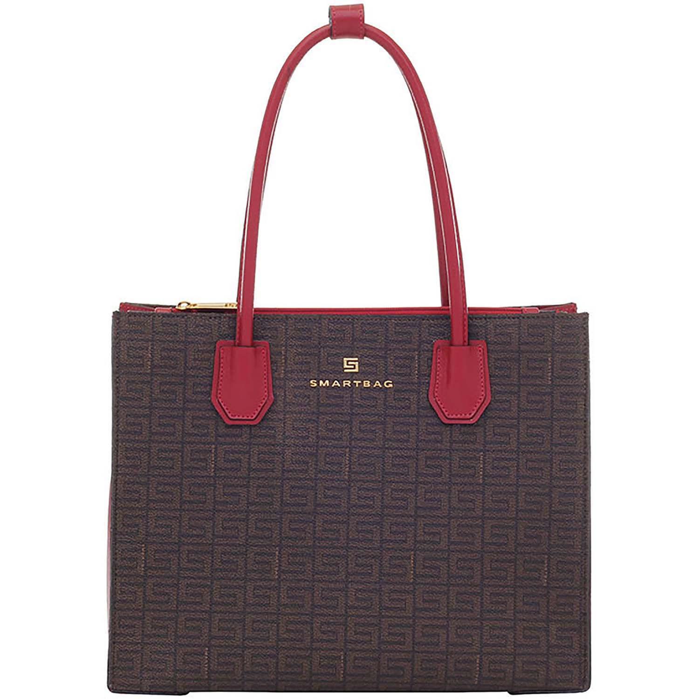 723872182 Bolsa Tiracolo Veneza Chocolate Vermelho - Smartbag