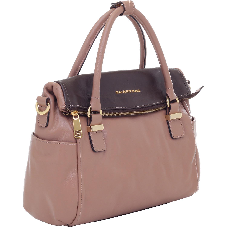 953b3b58ea Bolsa Alça de Mão Couro Rosa Antique - Smartbag