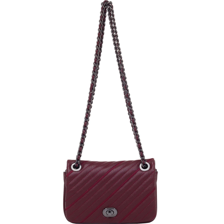 22c5fad4e Bolsa Transversal Couro Bordo - 72146.17 - Smartbag