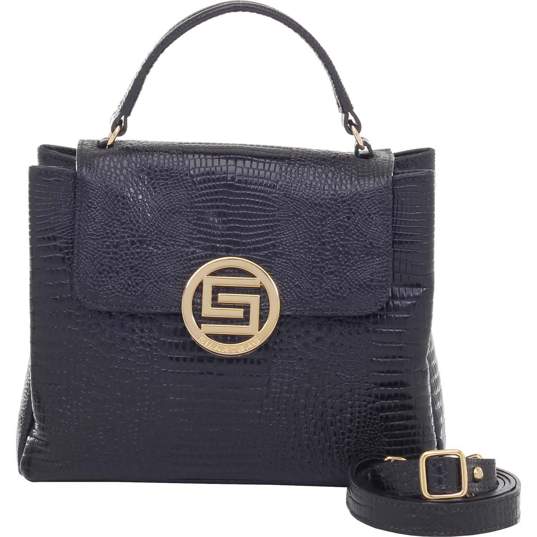 9d8b4b2c2 Bolsa de Couro Alça de Mão Lagarto Preto - Smartbag