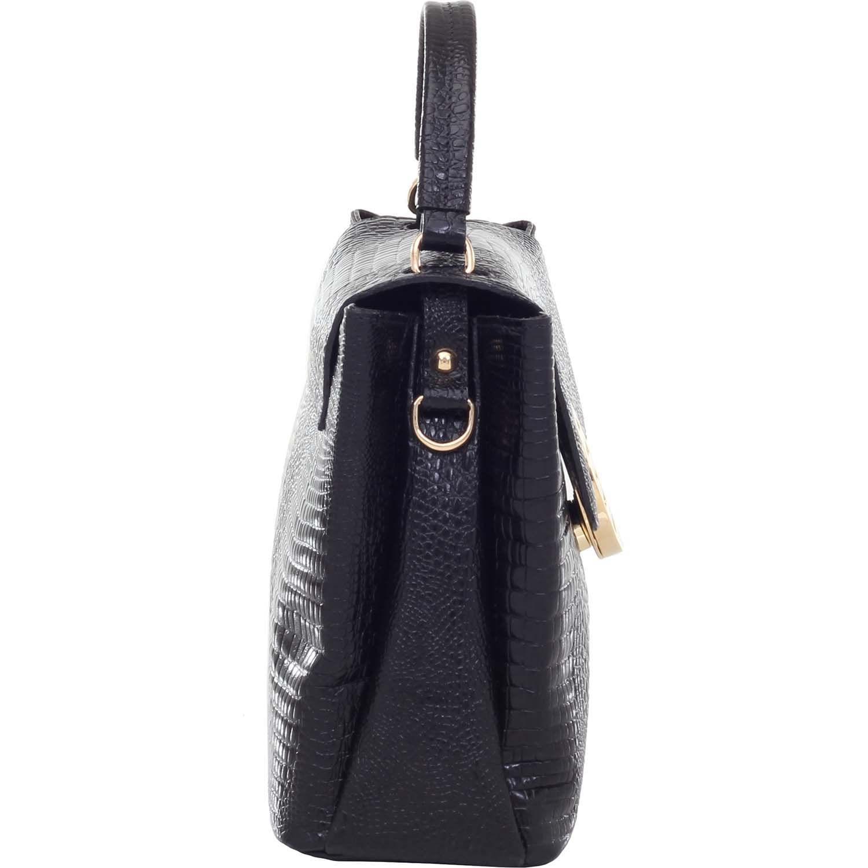 ae96a3c84 Bolsa de Couro Alça de Mão Lagarto Preto - Smartbag