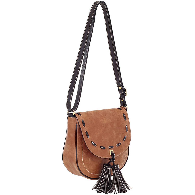 720b25e07 Bolsa Transversal Couro Bicolor Whisky Café - Smartbag