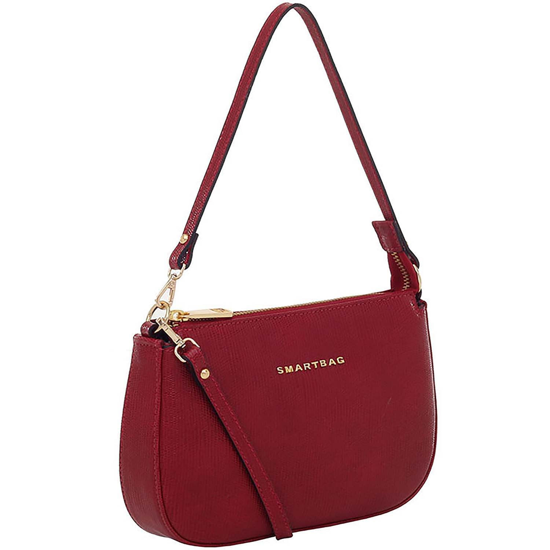 567ad123f Bolsa Tiracolo Couro Vermelho - Smartbag