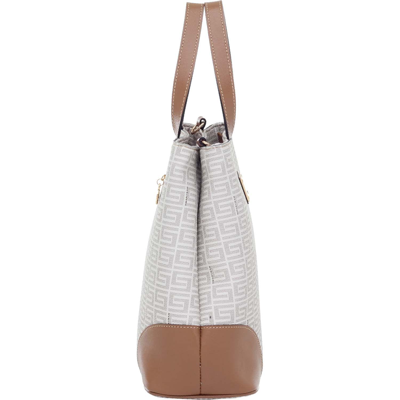 52230748b Bolsa Smartbag Veneza Creme/Couro Camel - 86046.17 - Smartbag