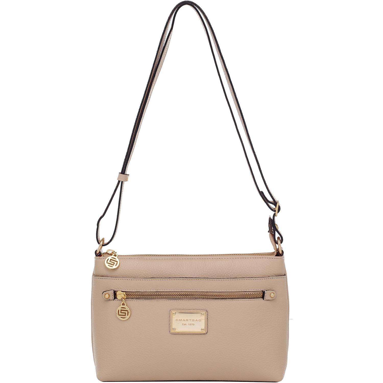 72c91a42d Bolsa Transversal Smartbag Couro Areia - 75195.19 - Smartbag