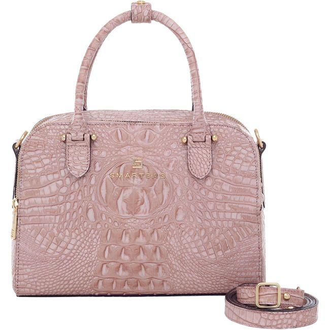 91d4d544b0 Bolsa Alça de Mão Smartbag Big Croco/Couro Nude - 75213.19 - Smartbag