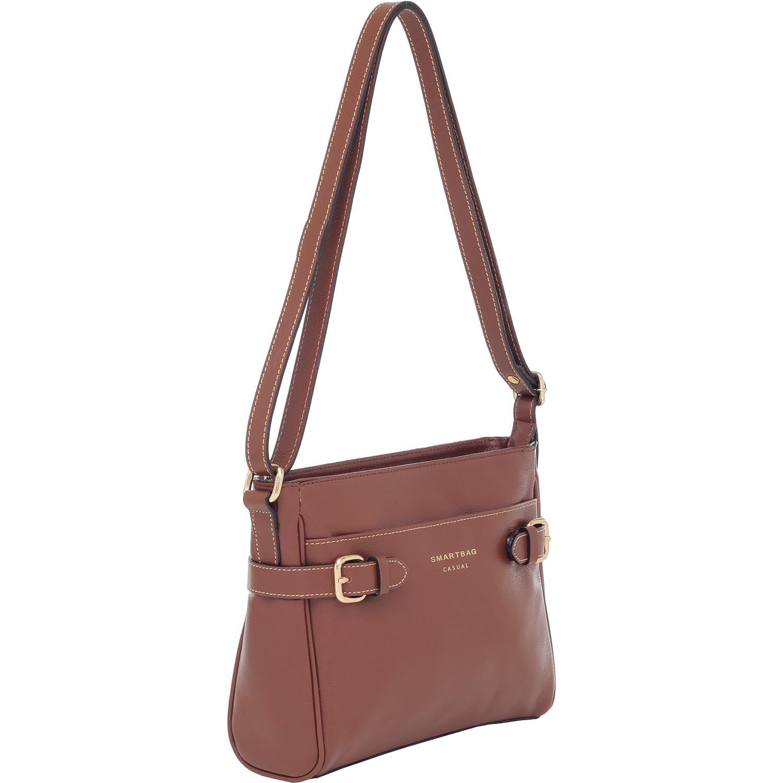 0d0b60c15 Bolsa Transversal Smartbag Casual Couro Avelã - 75281.19 - Smartbag
