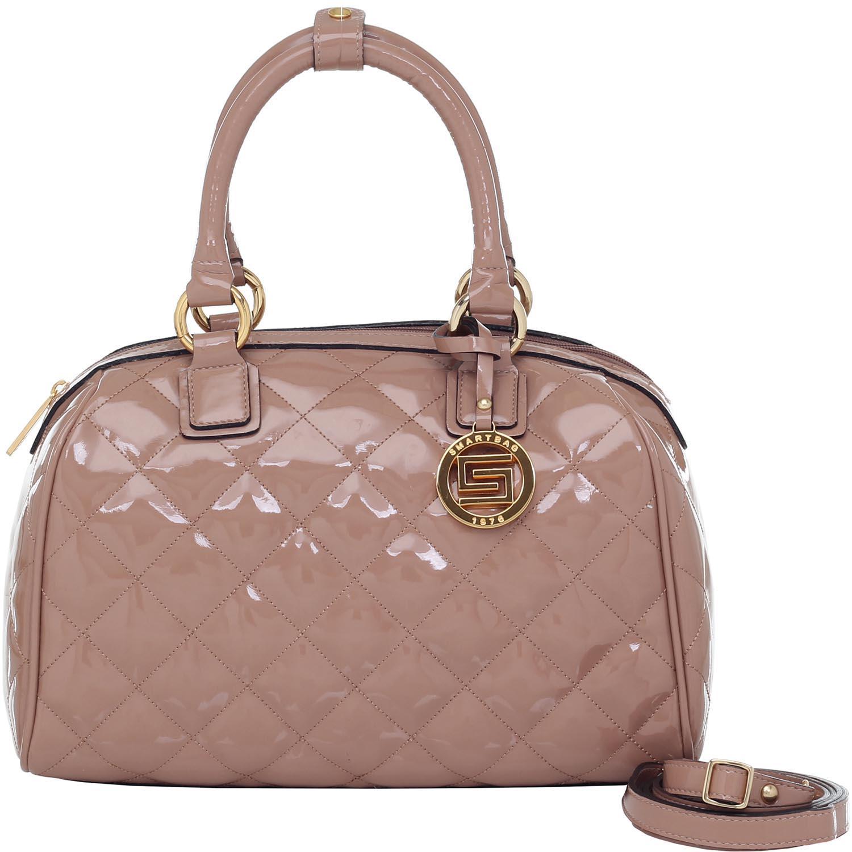 a4c54891216 Bolsa Alça de Mão Smartbag Suede Verniz Rose - 78115.15 - Smartbag