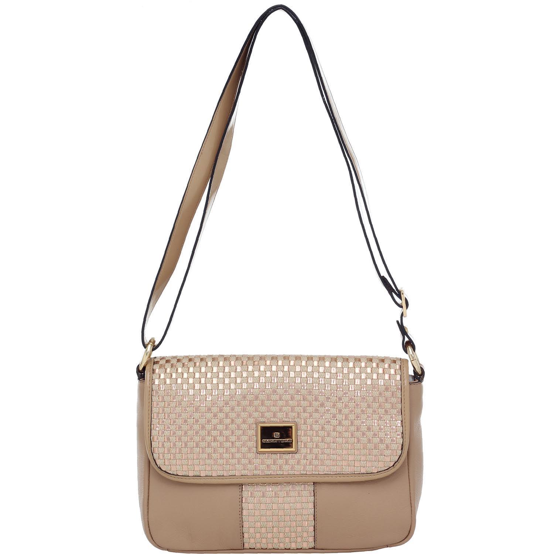 ab0832f377c Bolsa Transversal Smartbag Tresse Verniz Rose Bege - 78151.15 - Smartbag