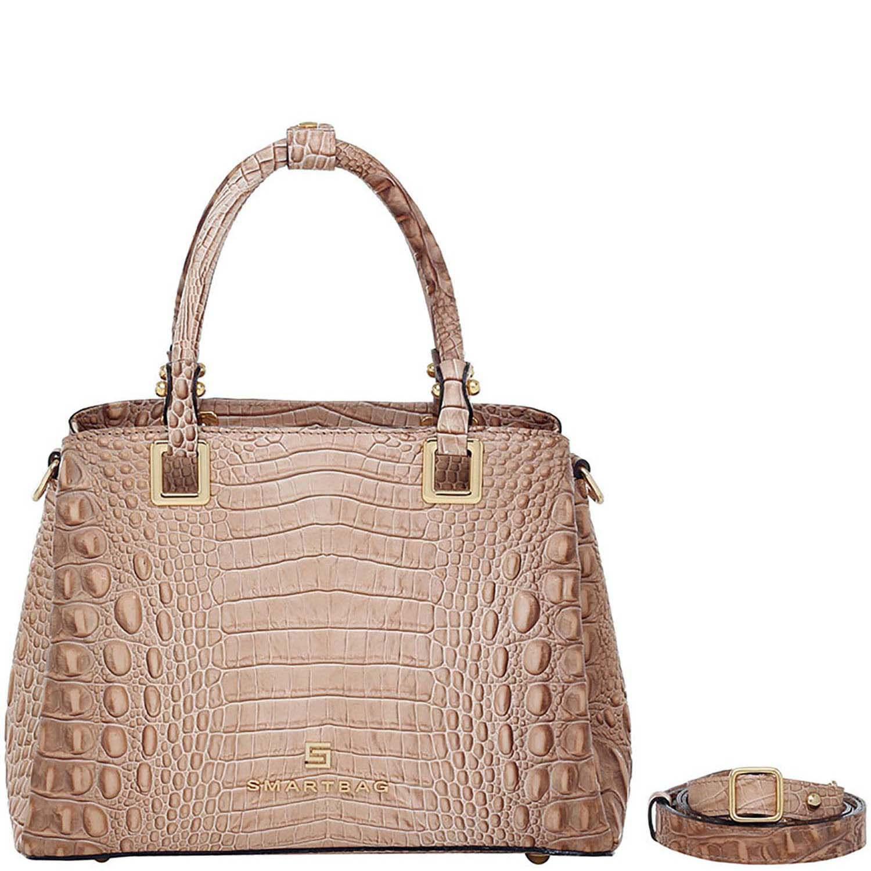 ac10dbef0 Bolsa Alça de Mão Smartbag Croco Bege - 76043.19. Previous. Loading zoom ·  Loading zoom