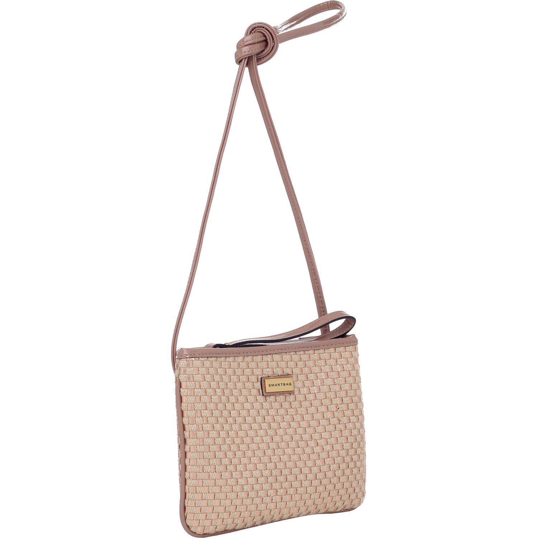 e80cd02ac1e Mini Bolsa Transversal Smartbag Tresse Metal Natural Rose - 78142.14 ...